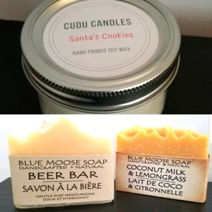 Artisan soap and candle bundle